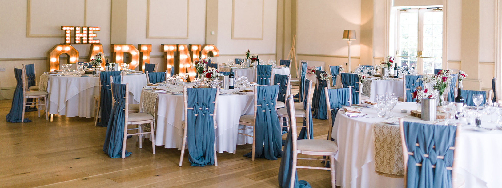Chair-Styling-Dusky-Blue-Chiffon-Weave Sashes