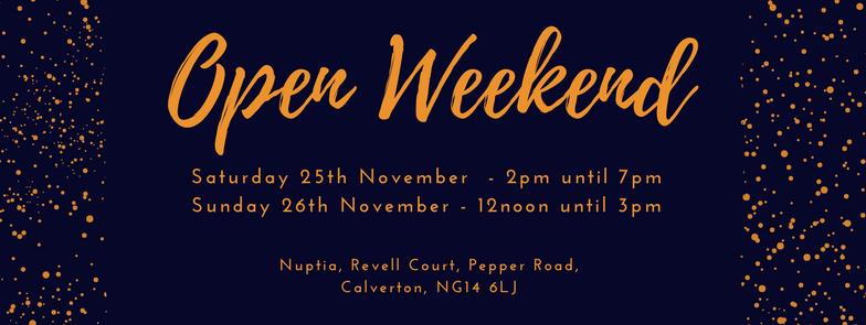 Open Weekend!